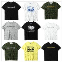 Wholesale Green Camouflage Shirt - TOP Quality 2017 New Arrival Gosha Rubchinskiy PACCBET T Shirt Men Women Justin Bieber Gosha Camouflage T-shirts Army Green Tee