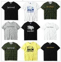 ingrosso maglietta camouflage dell'esercito-TOP Quality 2017 Nuovo Arrivo Gosha Rubchinskiy PACCBET T Shirt Uomo Donna Justin Bieber Gosha Camouflage T-Shirt Army Green Tee