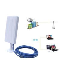 Wholesale outdoor ethernet - Wholesale- 2.5KM High Gain Outdoor Waterproof 150M USB Wireless Wifi Adapter