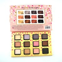 Wholesale forever 12 - 2# Faced Funfetti with Big Heart Mirror 12 color Eyeshadow Palette Forever Young Party Crasher All Nighter Sequin DHL free shipping