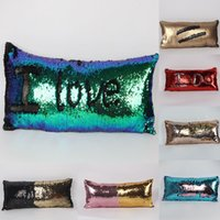 Wholesale car two color for sale - Group buy New Two color Sequins Pillow Case Pillowslip Fashion Mermaid Pillow Covers Home Sofa Car Decor Cushion cm WX P04