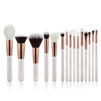 Wholesale powder liner - Jessup Pearl White Rose Gold Professional Makeup Brushes Set Make Up Brush Tools Kit Foundation Powder Definer Shader Liner