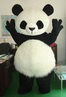 Wholesale mascot costume wedding - New Wedding Panda Bear Mascot Costume Fancy Dress Adult Size