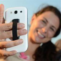 рукоятка пальца оптовых-Рукоятка для ремня Рукоятка из каучука Рукоятка для пальцев Ручка назад Наклейка на резинку для одной руки Противоскользящий ремень Для iPhone 6 6S 7 Samsung S6 S7