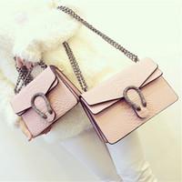 taschen großhandel-2017 neue Designer-handtaschen schlangenleder geprägte mode Frauen tasche kette Umhängetasche Marke Designer Umhängetasche sac ein haupt