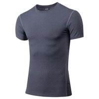 Wholesale T Shirt Guard - new arrival men's spandex short sleeve breathable professional men fitted rash guard for gym fitness skin suit t-shirt