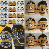 Wholesale Hooded Sweatshirt Men - 2017 Stadium Series Pittsburgh Penguins Jeresys Hoodies 87 Sidney Crosby 58 Kris Letang 71 Evgeni Malkin Hockey Jersey hooded Sweatshirt