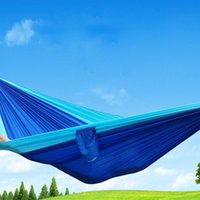 Wholesale Single Person Hammock Hanging Sleeping Bed Parachute Nylon Fabric Outdoor Sport Camping Hammocks Travel Hiking Backpacking Hammock