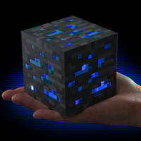 Minecraft light toy Pas Cher-Minecraft Light Up Jeu populaire Redstone Ore Square Minecraft Night light LED Minecraft Figure Toys Light Up Diamond Ore