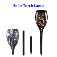LED solar césped llama luz de la antorcha Powered Solar IP65 impermeable 96pcs SMD2835 2W lámpara decorativa para exteriores
