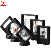 Wholesale Leather Pendant Box - 6 Pcs PET Membrane Jewelry Display Stand Black Earring Bracelet Necklace Ring Organizer Clear Accessories Display Box
