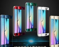 Wholesale Stock A5 - For Samsung galaxy S6 edge plus S7 Edge S8 S8 plus A3 A5 A7 9H 3d Curved Side Full Cover Tempered Glass Screen Protector DHL IN STOCK