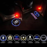 UK prado led - 2x LED Car Door Logo Light For TOYOTA CROWN Highlander land cruiber Reiz Prado Ghost Shadow Courtesy Laser Projector Welcome Lamp
