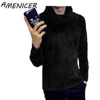Wholesale Moda Mens - Wholesale- Winter Men Sweaters Korean Turn-down Collar Slim Fit Casual Fashion Mens Turtleneck Sweater Ropa De Hombre Moda 8 Color