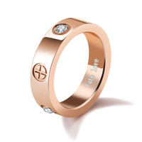 Wholesale Ring Forever Love Gold - 2017 New Arrival top quality forever love stainless steel Rose Gold Silver Gold couples Screw Ring for men and women