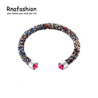 Wholesale Europe and the United States burst models sparkling single lap resin bracelets multi color Rhinestone BRACELETS JEWELRY