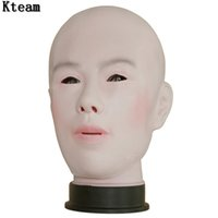 Wholesale Silicone Sexy Men Dolls - Top Grade 100% Latex Handmade Silicone Sexy And Sweet Full Face Female Mask Ching Crossdress Mask Crossdresser Doll Man&Women