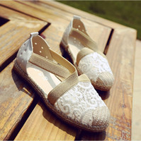 Wholesale Espadrille Sandals - Lace Crochet Espadrilles for Wedding Party Summer Sandals Comfortable Outdoor Bridal Accessories Casual Boho Wedding Shoes Hippie Style