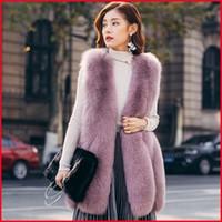 Wholesale White Waistcoat Women - Winter New Fashion Luxury Fur Vest Women Regular Warm Jacket Coat Waistcoat Variety Color For Choice