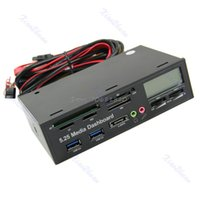 """Wholesale Media Dashboard Card Reader - Wholesale- USB 3.0 All-in-1 5.25"""" Muiti-function Media Dashboard Front Panel Card Reader -R179 Drop Shipping"""