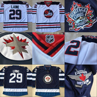 Wholesale Embroidery Ladies - Lady and Youth Winnipeg Jets 2016 Heritage Classic 29 Patrik Laine Jersey, 100% Stitched Embroidery Logos Hockey Jerseys Cheap Blue White
