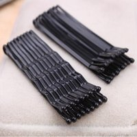 Wholesale Wholesale For Straight Pins - Wholesale- 60Pcs Black Invisible Hair Clips Wave Straight Pins Grips Barrette Popularity Simple Hairpin For Alloy Hair Accessories