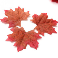 Wholesale Fall Leaf Crafts - Wholesale-100Pcs artificial simulate maple leaves Multicolor Autumn Fall Leaf For Art Scrapbooking Wedding Bedroom Wall Party Decor Craft