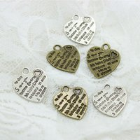 Sweet Bell Free Shipping! 19 * 22mm dois cor Tone Valentine Love Heart Charm Pingentes D0517