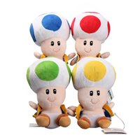 "Wholesale Toad Mario Plush Toy - 4 Colors  Lot 7""18 CM Super Mario Mushrooms Toad Plush Toys Cute Stuffed Animals Kids Gift"
