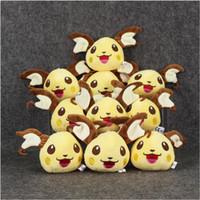 Wholesale pokemon stuffed set - 10cm Anime Poke Pikachu Keychain Pendant Plush Toy Soft Plush Stuffed Doll for Kids Christmas gift free shipping EMS 10pcs set