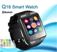 Wholesale Phone Q8 - Q18 smart watches for android phones Bluetooth Smartwatch with Camera Original q18 Support Tf sim Card Slot Bluetooth VS DZ09 Q8