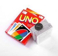 Wholesale Puzzle Card Games - 500Set UNO poker card standard edition family fun entertainment board game Kids funny Puzzle game By DHL