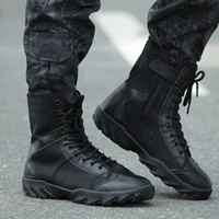 Wholesale Shoes Ultralight - Wholesale-Blackhawk Tactical Men Boots Outdoor Combat Army Shoes Hiking Botas Leather Ultralight High Autumn WearableBoots Male Size 37-44