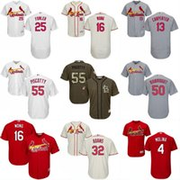 Baseball st mikes - Mens St Louis Cardinals Jerseys Mike Leake Dexter Fowler Seung Hwan Oh Aledmys Diaz Jackie Robinson Baseball Jerseys