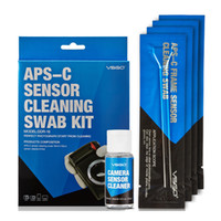 Wholesale Sensor Clean Swab - Professional APS-C Sensor Cleaning Swab Kit 12pcs Swab Sticks 15ml Cleanser Pack For DSLR Sensor Lens Screen Keyboard Glasses.