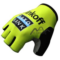 Wholesale Saxo Bank Gloves - saxo bank Cycling Gloves Bike Bicycle Sport Gloves Guantes Ciclismo GEL pad Shockproof Gants Half Finger