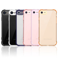 Wholesale Corner Bumper Cushions - For iphone 7 iphone 7plus case Air Cushion Corners Shock Absorption TPU Bumper Crystal Clear PC Back Cover Ultra Slim fit Protective Case