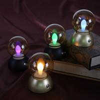 Wholesale Home Lamp Rechargeable - Vintage Bulb Light Retro USB Bulb Lamp Rechargeable Charging Nightlight LED energy-saving lights Mini Bed Lamps Decor Retro Colorful lamp