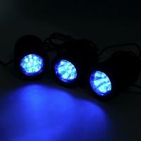 sualtı ledli spotlar toptan satış-YENI 1 ADET güneş Enerjili 3 Ampuller ile güneş paneli Denizaltı Spot 18 LEDS RGB / soğuk beyaz Bahçe Havuz Gölet Lambası Sualtı Işıkları
