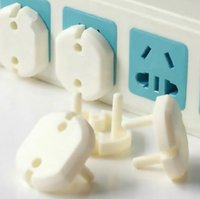 Wholesale Kid Plug Safety Cover - 2017 hot 2 Hole Sockets Cover Plugs Baby Electric Sockets Outlet Plug Kids Electrical Safety Protector Sockets Protection Caps