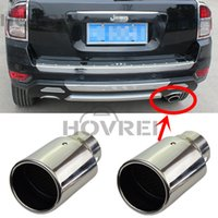 Wholesale auto car Stainlss Steel Tail Throat Exhaust Pipe Mufflers For Jeep GRAND CHEROKEE