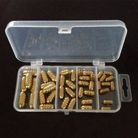 41pcs / 1box Bullets Copper Pendant Set Fishing sinkers / Lead weights / Plummet Pesca Fishing Tackle Accessories