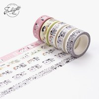 Atacado- 2016 I01 8M / Box Cute Kawaii Cat Dog Animais de estimação Papel Washi Tape Decorativas de máscara Tape Stickers Papelaria Stick Label Student Kids