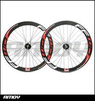 Wholesale Carbon Wheels Track Bike - Free shipping track bike 50mm Clincher Carbon wheels with F5T painting fixed gear wheels 700C wheelset fixie bike
