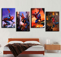 Digital printing spiderman spray - No Frame Prints Painting Spiderman Printed Poster pieces Canvas Art Unframed Digital Printing Painting House Decoration x60cmx3pcs
