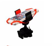 gps sahipleri bağlar toptan satış-360 Derece silikon örümcek web sabitlemek Için QuakeProof Bisiklet Bisiklet Gidon Cep Telefonu Montaj Tutucu iPhone Samsung GPS MP4