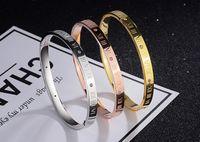 Wholesale Rome Steel - The new stainless steel bracelet bracelet Rome digital titanium jewelry trade selling jewelry star with a stylish Bracelet