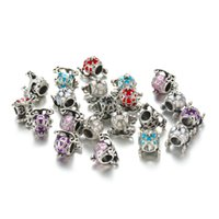 Wholesale Wholesale Cinderella Carriages - Cinderella Pumpkin Car Carriage Charm Silver Plated CZ Carriage Alloy Bead Car Charm for Jewelry Making DY59