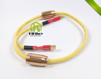 Wholesale hifi audio High Quality N OFC USB Cable With Magnetic Ring for Hifi DAC Amplifier m m m m USB A plug to USB B plug