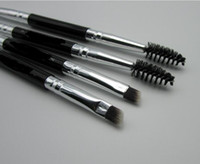 Wholesale Wood Large - Duo Brush #12 #7 #15 #20 Makeup Brushes with Logo Large Synthetic Duo Brow Eyebrow Makeup Brushes Kit Pinceis Factory Wholesale